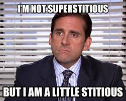 Best Office Memes - not superstitious funny the office meme