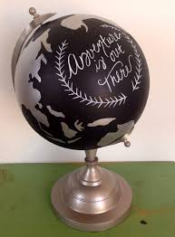 34 best globes with style images on pinterest painted globe