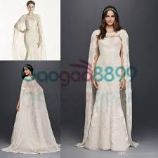 oleg cassini wedding dress oleg cassini vintage lace mermaid wedding dresses with cape cloak