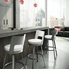 Modern White Bar Stool Kitchen Beautiful Modern Style Kitchen Counter Stool With Grey