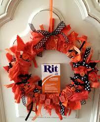 Halloween Wreaths To Make Diy Halloween Rag Wreath With Rit Dye