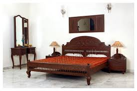 carved teakwood bedroom furniture manufacturer from new delhi
