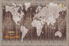 Beer Map Magnetic World Beer Cap Map Swiftmaps Com