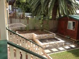 frontyard vegetable gardens small backyard with terraced stone