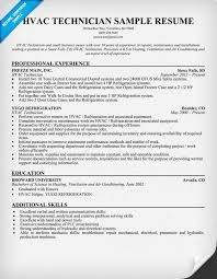 Example Resume Skills List by Outstanding Hvac Technician Resume Career History