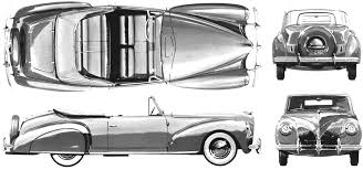 vintage cars drawings car blueprints lincoln continental blueprints vector drawings