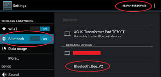 bluetooth settings android dfrobotshop rover tutorial android app bluetooth