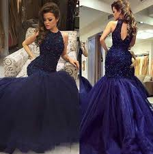 navy blue prom dress lace mermaid prom dresses cheap prom