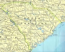 Road Map Of Southern Usa by South Carolina Counties Road Map Usa