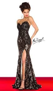 formal gown macduggal 76414r formal gown with high slit novelty