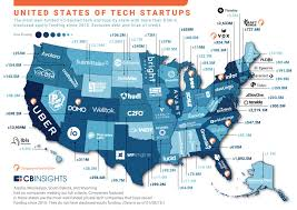 Hawaii On The Map The United States Of Startups The Most Well Funded Tech Startup
