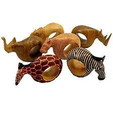 antique animal ring holder images Mahogany wood animal napkin rings set of six home jpg