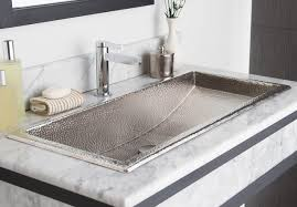 sink trough 36 in brushed nickel amazing double trough bathroom