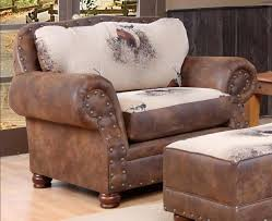 Reclining Chair And A Half Leather Chelsea Home Big Buck Sofa Set Buck Pinto Tobacco Microfiber
