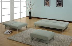Light Sofa Bed Modern Light Gray Velvet Sleeper Sofa Set With Rectangle Ottoman