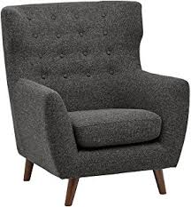 Blue And White Accent Chair Amazon Com Rivet Huxley Mid Century Accent Chair Marine Blue