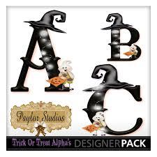 halloween printable crafts trick or treat halloween monogram alphabet digital scrapbook