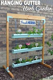 Ideas For Herb Garden 20 Easy Diy Gutter Garden Ideas Garden Decor 1001 Gardens