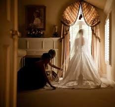 we love the view from the back of a wedding gown that is