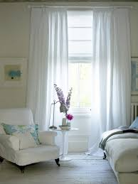 kitchen window decorating ideas sensational interior decorations with double white curtains for