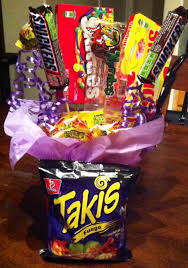 Halloween Candy Gift Basket by Takis And Candy Gift Arrangement Gifts And Stuff Pinterest