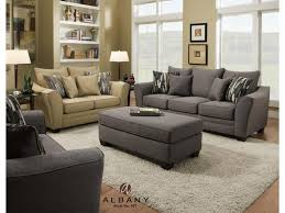 Transitional Style Living Room Furniture Albany 957 Transitional Sofa With Flared Arms Furniture And