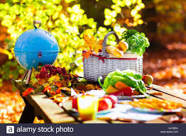 Beautiful Outdoors by Table Set For Lunch Outdoors In Beautiful Sunny Autumn Park