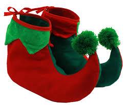 elf shoes boots christmas fancy dress elf shoe accessory adults