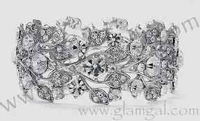 crystal rhinestone cuff bracelet images Swarovski crystal rhinestone choker set and matching wide stretch jpg