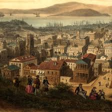 san francisco map painting 1846 vue de san francisco maps and prints vintage wall