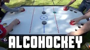 Hockey Beer Pong Table Alcohockey Canadian Beer Pong Wheresmychallenge Youtube