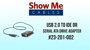 usb 2 0 to ide or serial ata drive adapter 23 201 002 youtube