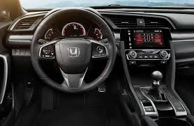 inside of a honda civic experience the 2017 honda civic si interior features