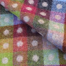 Multi Coloured Upholstery Fabric Camden U0027jute Check U0027 Beige And Multicoloured Wool Upholstery