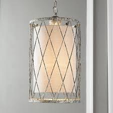 Rectangular Shade Pendant Light by Aged Metal Lattice Cylinder Pendant Light Shades Of Light