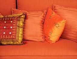 orange sofa pillows photograph by imagevixen photography