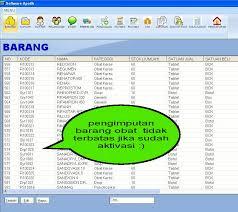 Obat Regumen software apotek koleksi software