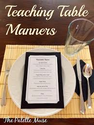 table manners teaching table manners the palette muse
