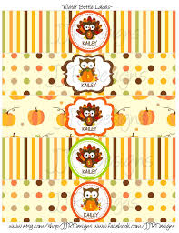 thanksgiving labels digital thanksgiving water bottle label fall water bottle label