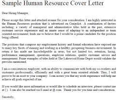 hr sle cover letter sle hr cover letters brilliant ideas of exle of cover