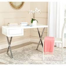 White Wood Desk Solid Wood Desks Home Office Furniture The Home Depot