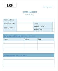 meeting minutes templates 10 meeting minute templates free sle exle format free