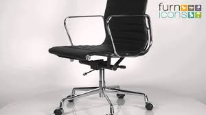 eames office chair ea 117 leather replica youtube