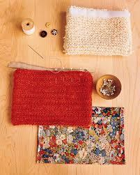 knit pouches martha stewart