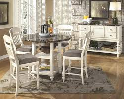 round counter height table set white counter height table set round chair white counter height