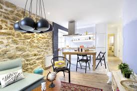 Decorating A Tiny Apartment Charming Small Apartment With Stone Walls And Bright Modern Decor