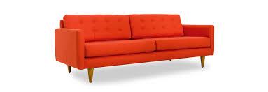 Mid Century Modern Leather Sofa by Eliot Sofa Joybird