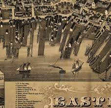 Boston Ma Zip Code Map by Vintage Historical East Boston Mass 1879 Old World Antique Style