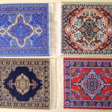 Green Persian Rug Oriental Rug Coasters Handcrafted In Istanbul Turkey The