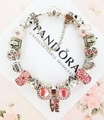 bracelet charms ebay images Authentic pandora silver charm bracelet with pink love european jpg